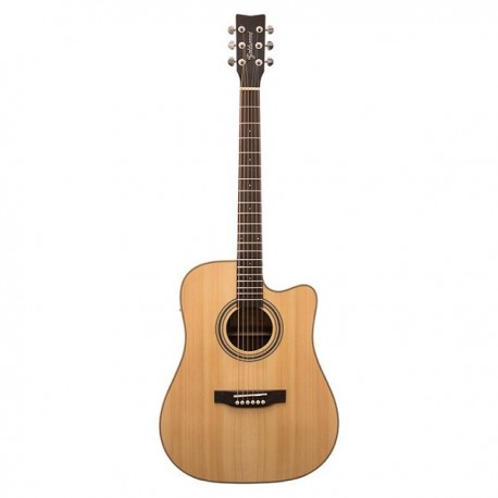 GOLDWOOD PS-DCE Chitarra AC7El Dreadnought Natural Satin
