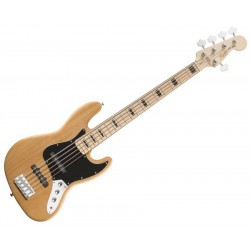 SQUIER JAZZ BASS V NAT
